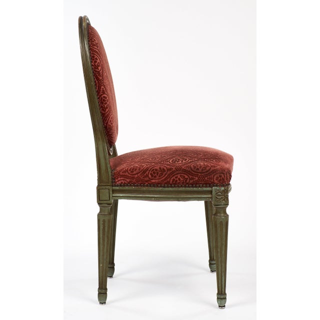 Pair of French Antique Louis XVI Style Medallion Back Chairs - Image 7 of 9 - Distinguished Pair Of French Antique Louis XVI Style Medallion Back