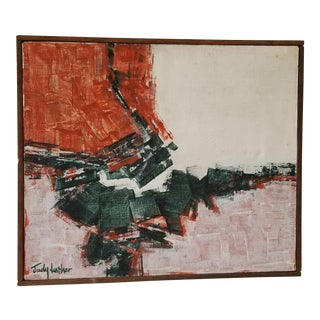 Judy Luther Abstract Modernist Acrylic Painting For Sale