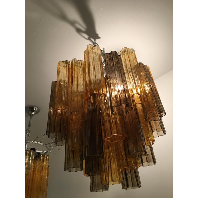 """Contemporary Murano Glass """"Tronchi"""" Chandelier For Sale - Image 12 of 12"""