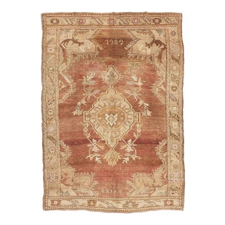 Vintage Faded Turkish Kars Large Rug For Sale