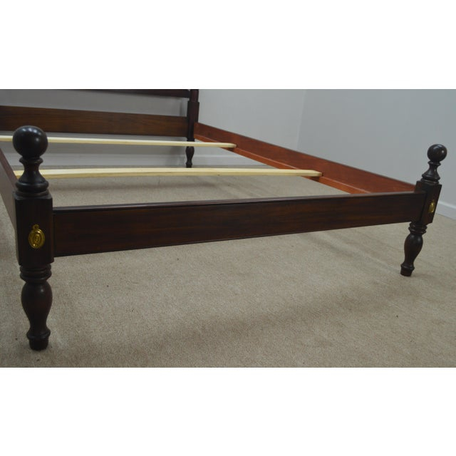 Traditional Henkel Harris Solid Mahogany Full Size Bedframe For Sale - Image 3 of 13
