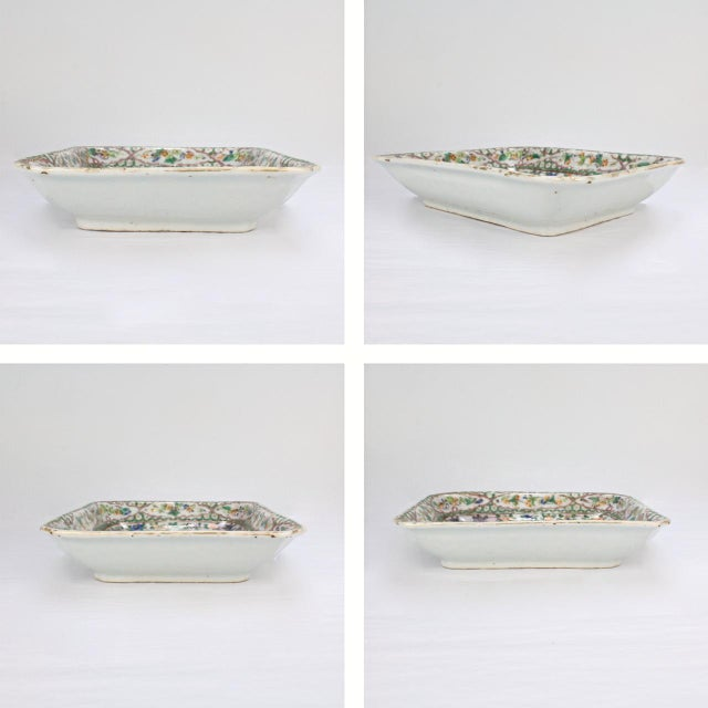 White Antique Chinese Export Porcelain Famille Verte Bowl For Sale - Image 8 of 13