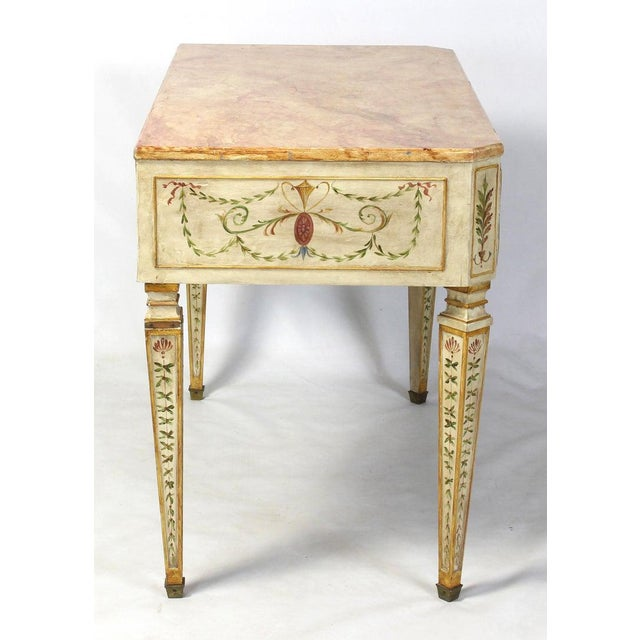 1940s Neoclassical Style Painted Dressing Table or Desk For Sale - Image 5 of 13