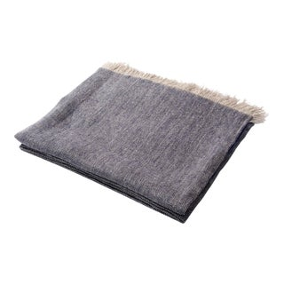Contemporary Denim Linen Throw
