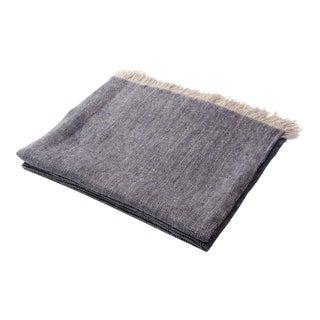 Contemporary Denim Linen Throw For Sale