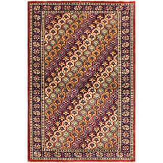 Persian Sherwan Sylvie Blue/Dark Blue Hand-Knotted Wool Rug (3'4 X 5'2) For Sale