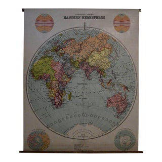 Early 20th Century Map of the Eastern Hemisphere, 1916 Edition For Sale
