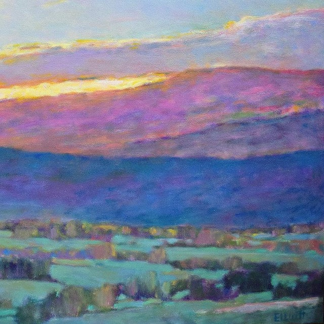 Ken Elliott Ken Elliott, Sun Behind the Foothills, 2017 For Sale - Image 4 of 5