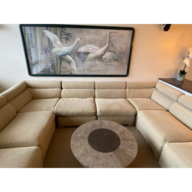 Textile 1970's Modular Sectional Sofa for Directional For Sale - Image 7 of 13