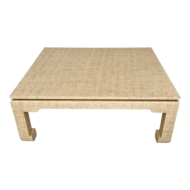 Grasscloth Wrapped Ming Style Coffee Table For Sale