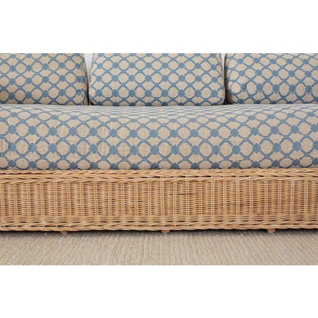 Blue McGuire Organic Modern Rattan and Wicker Daybed Sofa For Sale - Image 8 of 13
