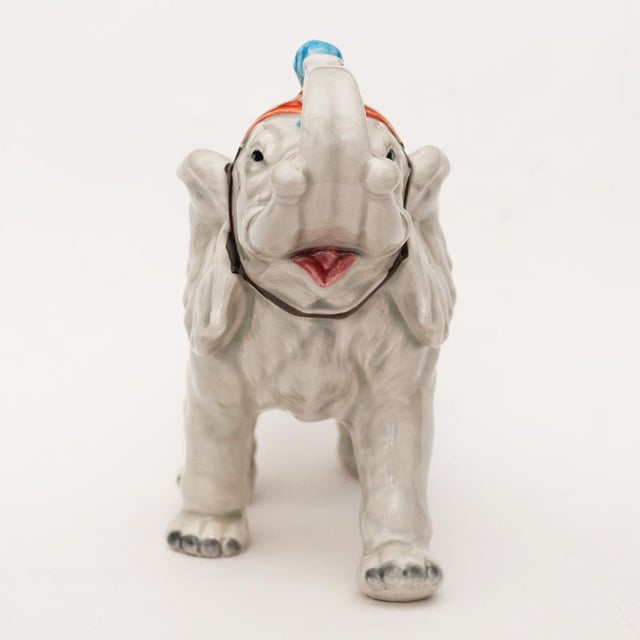 1983 Japanese Porcelain Circus Elephant Figurine or Bookend For Sale - Image 4 of 13