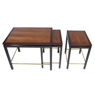 Set of three nesting tables by Edward Wormley for Dunbar, circa 1960s