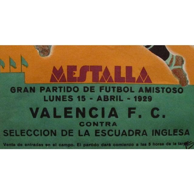 Original Vintage 1929 Soccer Poster for Spain - Image 4 of 4