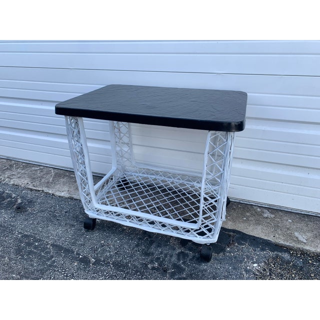 Mid Century Russell Woodard Spun Bar Cart For Sale - Image 10 of 10