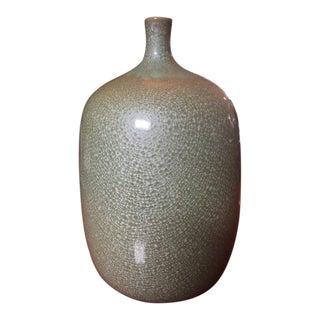 Vintage Celadon Ceramic Vase