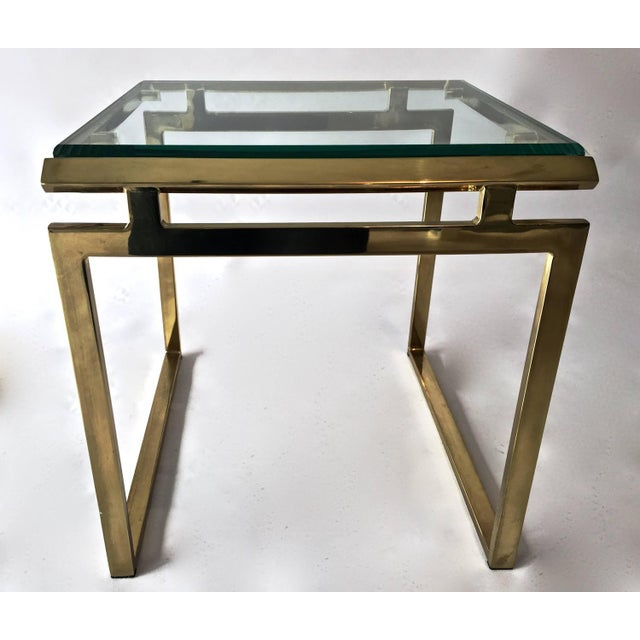 Mid-Century Brass & Glass Nesting Tables - A Pair - Image 9 of 10