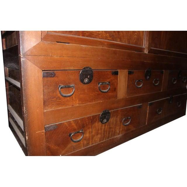Asian Antique Japanese Futon Dansu For Sale - Image 3 of 4