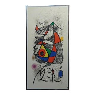 "Joan Miro' ""Galerie Maeght, Zürich 1972"" Original Lithograph-Pencil Signed For Sale"