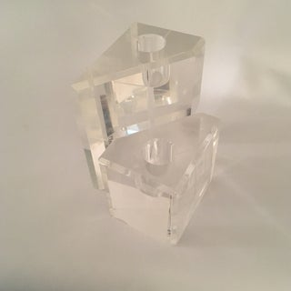 Pair of Angular Lucite Candlesticks Preview