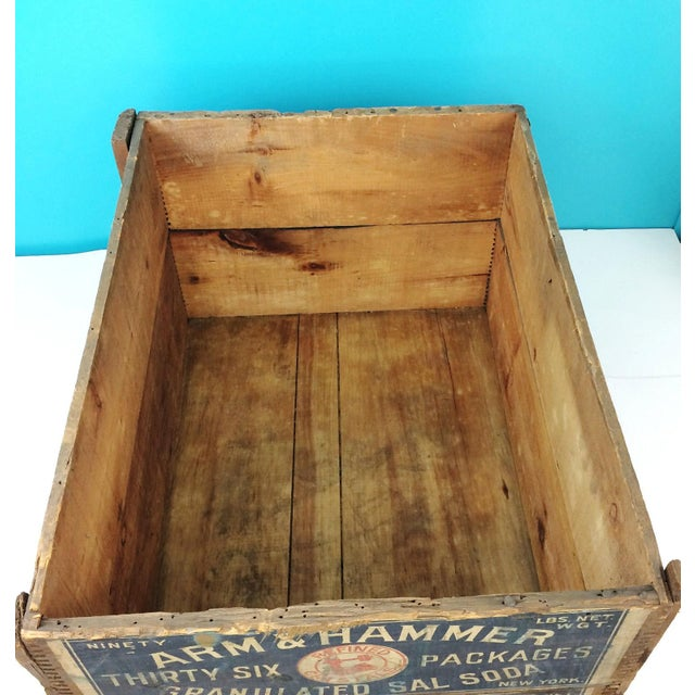 Vintage Arm & Hammer Soda Wood Shipping Crate - Image 6 of 7