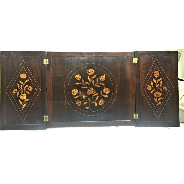 Antique Marquetry Inlaid Dressing Table For Sale - Image 11 of 13