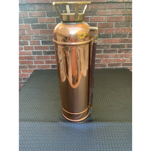 Fyr-Fyter Co. Dayton, Ohio Copper and Brass Full Size Fire Extinguisher For Sale - Image 13 of 13