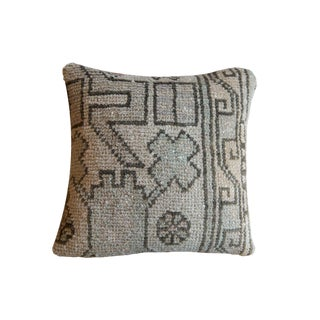 Reclaimed Turkish Rug Fragment Mini Pillow For Sale