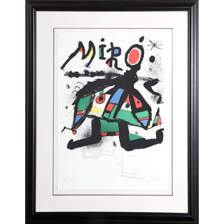 Joan Miró, Exhibition Miro at Galerie Maeght (M. 1171), Modern Lithograph For Sale