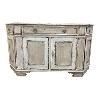 18th C Tuscan Painted Walnut Buffet /Sideboard For Sale