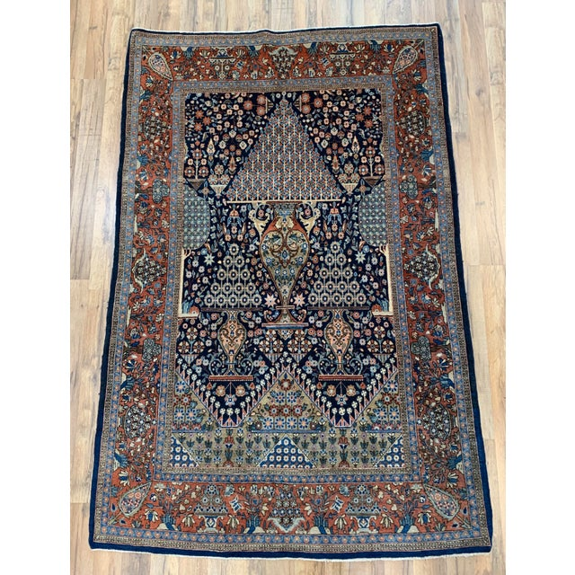 1910s Antique Persian Kashan Rug- 4′ × 6′6″ For Sale - Image 12 of 12
