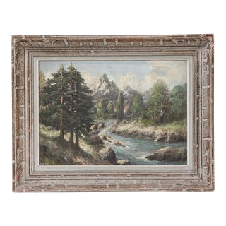 French 19th-Century Continental Alpine Landscape For Sale