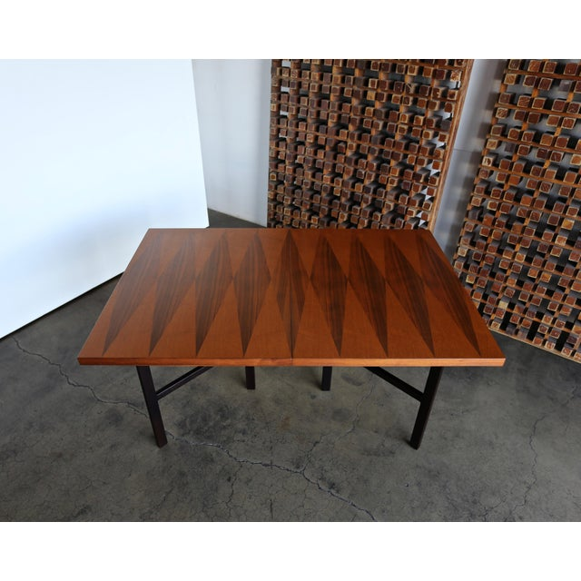Chocolate 1960s Mid-Century Modern Milo Baughman Dining Table for Directional Furniture For Sale - Image 8 of 13