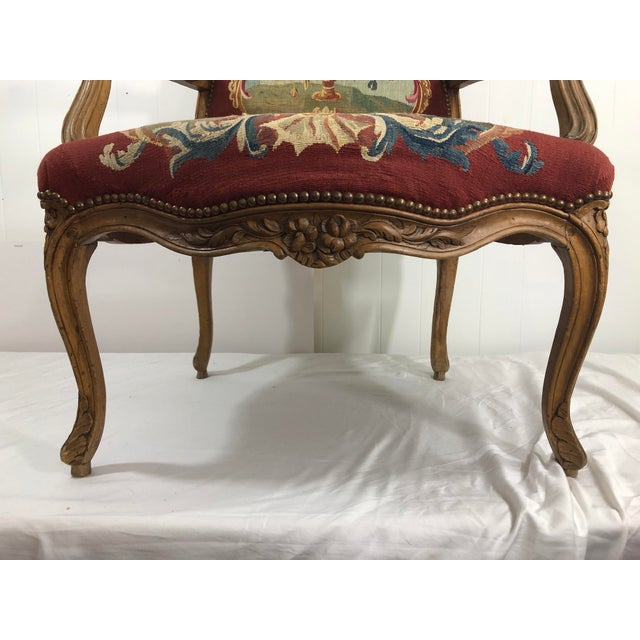 Wowza! what to say? the perfectly preserved Napoleon III Louis XV style arm chair has the original Aubusson tapestry...