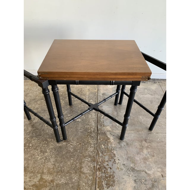 Drexel Vintage Drexel Expandable Bamboo Console For Sale - Image 4 of 13