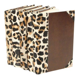 Hide Collection Leopard Books - Set of 5 For Sale