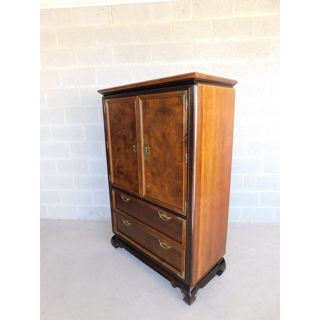 """Asian Broyhill Premier """"Ming"""" Collection Armoire / Chest For Sale - Image 3 of 13"""