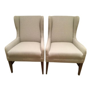 Ethan Allen Lance Arm Chairs - A Pair