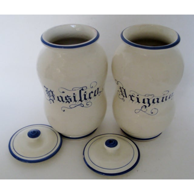 Ceramic Kitchen Canisters - A Pair For Sale - Image 4 of 6