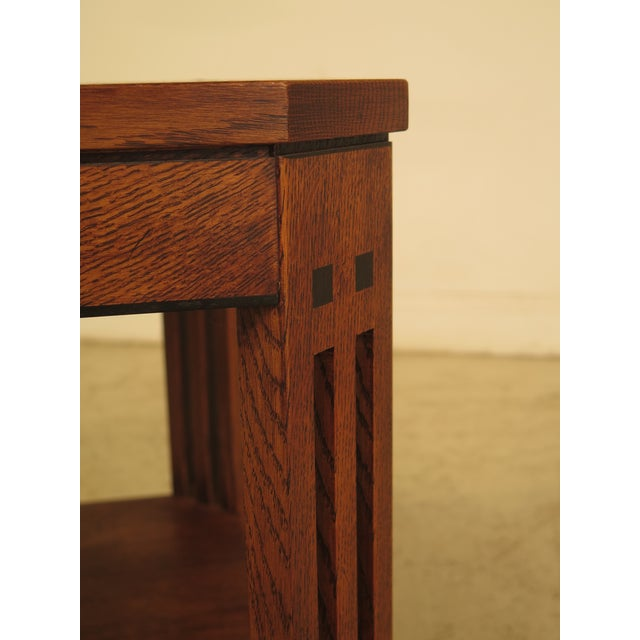 Stickley Arts & Crafts Oak Square Occasional Table - Image 4 of 8
