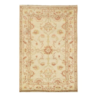 """Pasargad N Y Oushak Design Hand-Knotted Rug - 3'1"""" X 4'7"""" For Sale"""