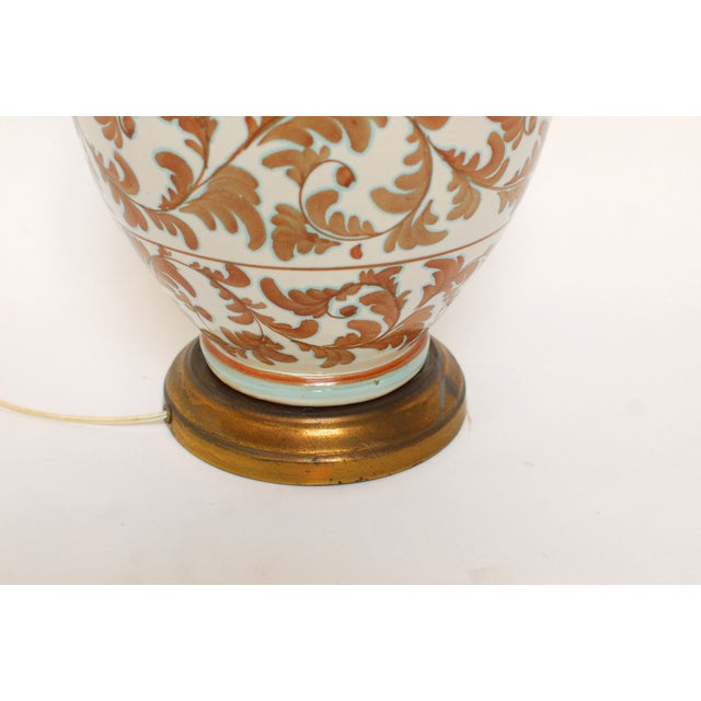 Faience Style Ceramic Urn Table Lamp - Image 5 of 6