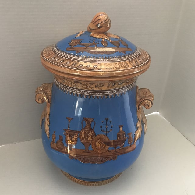 Striking Lusterware Cover Urn For Sale - Image 13 of 13