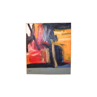 Contemporary Mid Century Large Abstract Oil Painting For Sale