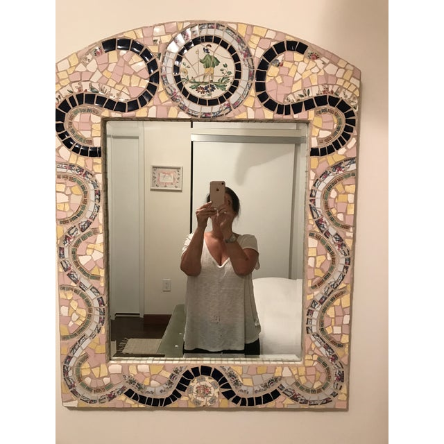 Custom Made Mosaic Mirror - Image 2 of 6