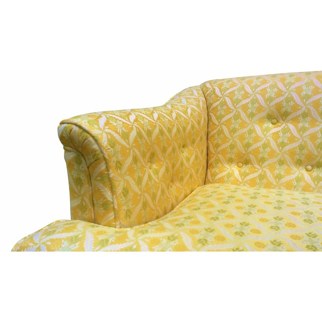 Louis XV Style Tufted Sofa in Yellow - Image 6 of 8