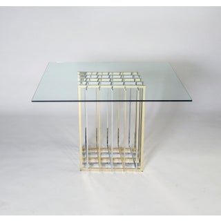 Pierre Cardin Mixed Chrome and Brass Grid Table Preview