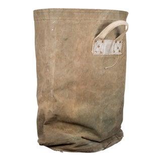 Large Reinforced Canvas Bag C.1940 For Sale