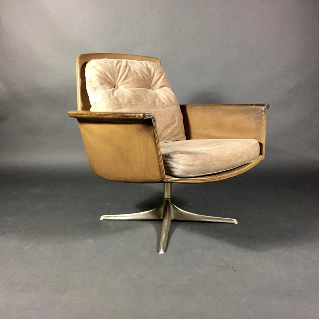 """Sedia"" Leather Armchair by Horst Brüning for Cor Germany 1966 For Sale - Image 10 of 10"