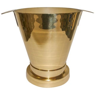 Art Deco Brass Champagne Ice Bucket From France For Sale